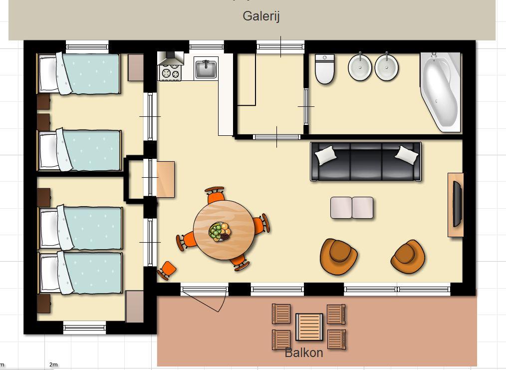 Plattegrond keuken tekenen woonkamer plattegrond tekenen for Cursus interieur tekenen